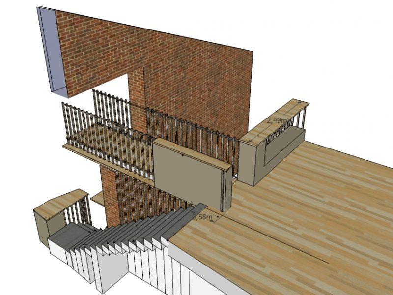 aménagement escalier et espace TV appartement à St Etienne